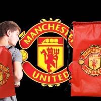 Tas Serut Manchester United MU Ransel Sekolah Futsal Klub Bola Backpac
