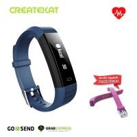 Createkat Smart Band Heart Rate Monitor Smartwatch Gelang Pintar
