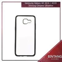 Case Samsung Galaxy A3 2016 A310 Softcase Shining Chrome Ultrathin