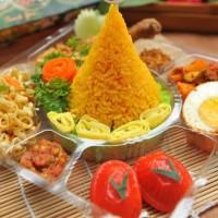 Tumpeng mini/nasi kuning/nasi box