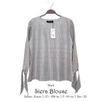 Baju Atasan Wanita Siera Blouse Tunik Baju Muslim Hitam