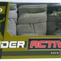 RIDER ACTIVE 3 PCS / CELANA DALAM PRIA R 317 B / PAKAIAN DALAM / KOLOR