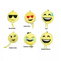 Tas Belanja Lipat Karakter Emoticon Bantal Emo Smile Tote Baggu Bag