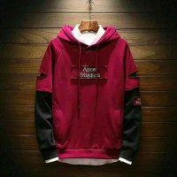 SweaterRipped Maroon - Outwear Hoodie sweater