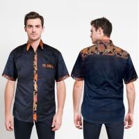 Kemeja Batik Pria Kombinasi Kekinian Seragam