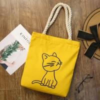 Cute Animal Printed Canvas Shoulder Bag