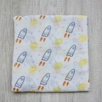 Kain Bedong Bayi Bamboo Muslin Swaddle Hoppipollakids - Rocket