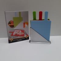 BISTRO PLASTIC CUTTING BOARD SET WITH HOLDER TALENAN SET 3 PCS BO-CB18