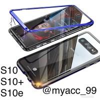 magnetic Samsung S10. S10+. S10e magnetic glass premium case 2in1