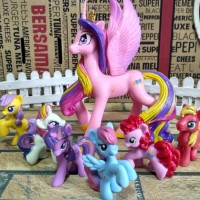 mainan anak little pony set 7 bh