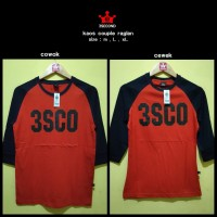 Kaos distro 3second cowok reglan murah COUPLE