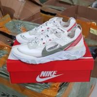Sepatu Sneakers Nike React Element 87 Undercover Jun All White