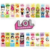 [PLASTIK] LOL SURPRISE! STICKY NOTES PEMBATAS BUKU PLASTIK KARAKTER