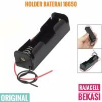 1x 18650 Battery Holder Baterai Case Box tempat Batre 3.7v 4.2v +kabel