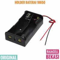 2x 18650 Battery Holder Baterai Case Box tempat Batre 7.4v 8.4v +kabel