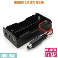 2x 18650 Battery Holder Baterai Case Box 7.4v 8.4v + Jack DC Arduino
