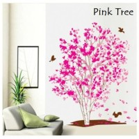 Wall Sticker 60x90 Pink Tree - Wallsticker Gambar Stiker Dinding