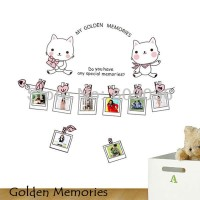 Wall Sticker 60x90 Golden Memories - Wallsticker Gambar Stiker Dinding