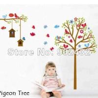 Wall Sticker 60x90 Pigeon Tree - Wallsticker Gambar Stiker Dinding