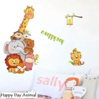 Wall Sticker 60x90 Happy Day Animal Wallsticker Gambar Stiker Dinding