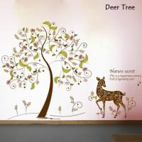 Wall Sticker 60x90 Deer Tree - Wallsticker Gambar Stiker Dinding