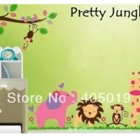 Wall Sticker 60x90 Pretty Jungle - Wallsticker Gambar Stiker Dinding