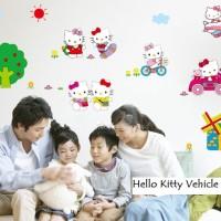 Wall Sticker 60x90 Hello Kitty Vehicle - Wallsticker Stiker Dinding