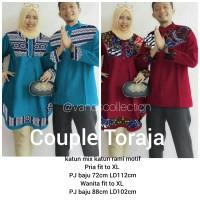 Couple Toraja Tunic dan koko Pria Songket