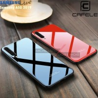 Case Samsung A50 2019 Glass Case Ume Cafele Tempered Backdoor Casing