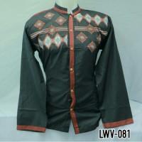 Produsen Grosir Baju Koko Muslim Dewasa Lengan Panjang Hitam LWV 081
