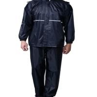 Jas Hujan - High Quality Waterproof Rain Coat Size XXL - Black A397