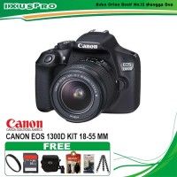 CANON EOS 1300D LENSA 18-55MM / CAMERA DSLR CANON EOS 1300D KIT 18-55