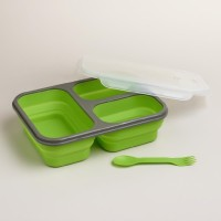 Baby Safe Collapsible Lunch Box 3 Compartment Green