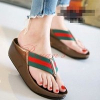 RY - Sandal Wedges Jepit Guci Jh87 Army