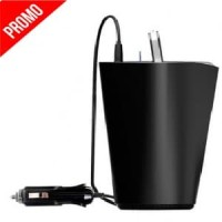 M4M Orico Car Cup Charger with 3 USB Port - UCH-C3-V1 - Black