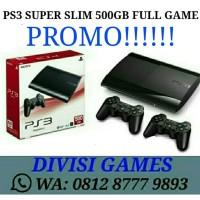 Ps3 Super Slim 500Gb Ofw (Psn)Full Game Refurbish By Sony