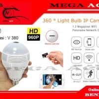 IP Camera CCTV Bulb WiFi Panoramic - Lampu Bohlam VR Spy Cam