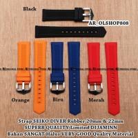 Strap KW Super SEIKO DIVER Rubber 20mm Tali Jam Tangan Band Lug 20 mm