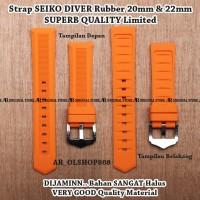 Strap Aftermarket SEIKO DIVER Orange Rubber 20mm Tali Band Lug 20 mm