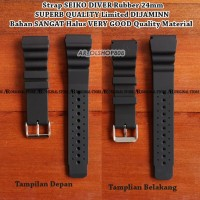 Strap KW Super SEIKO DIVER Rubber 24mm Tali Jam Tangan Band Lug 24mm 1