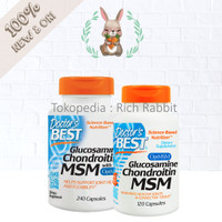 Doctor's Best Doctor Glucosamine Chondroitin MSM 120 / 240 Capsules