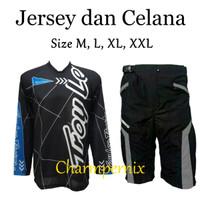 Baju Jersey sepeda Plus celana Padding - celana sepeda peding