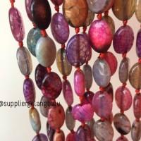 Harga batu agate oval campur beads 15 x 10mm aksesoris gelang kalung   Pembandingharga.com