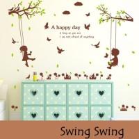 Wall Sticker 60x90 Swing Swing - Wallsticker Gambar Stiker Dinding