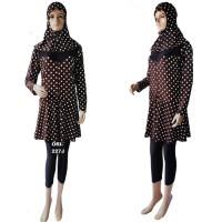 Baju Renang Muslimah Dewasa Jumbo 227J Cokelat ukuran 5L BIG SIZE