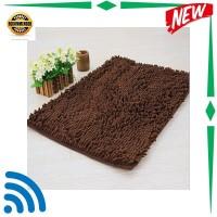 TOP Keset Cendol Dof Coklat 40 x 60 cm karpet bulu doormat chenille