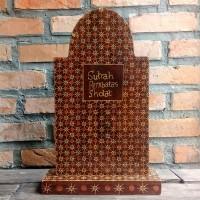 Sutrah - Sutroh Pembatas Sholat - Kayu Batik - Satuan