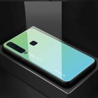 Casing case Samsung Galaxy A9 2018 back tempered glass Premium