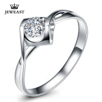 Natural diamond Ring 18k Gold Women Lover Couple Anniversary