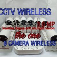 PROMO PAKET CCTV WIRELESS/NVR KIT 3MP 8 IP CAMERA (lengkap dgn hardis)